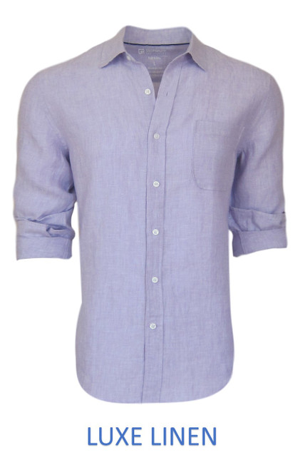 Perfect for warm weather our Long Sleeves Garment Dyed Linen Shirts in a masculine gorgeous lilac. Cool comfort with a relaxed fit, slightly tapered to be worn untucked or paired with a Georg Roth Tee and worn open. Machine or Hand Wash cold, lay flat to try.  . . . . . . .  #LinenShirts #GarmentDyed #LongSleeves #Shirt #Shirts