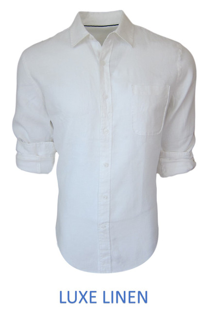 Perfect for warm weather our Long Sleeves Linen Shirts in crisp White. Cool comfort with a relaxed fit, slightly tapered to be worn untucked or paired with a Georg Roth Tee and worn open. Machine or Hand Wash cold, lay flat to try.  . . . . . . .  #LinenShirts #GarmentDyed #LongSleeves #Shirt #Shirts