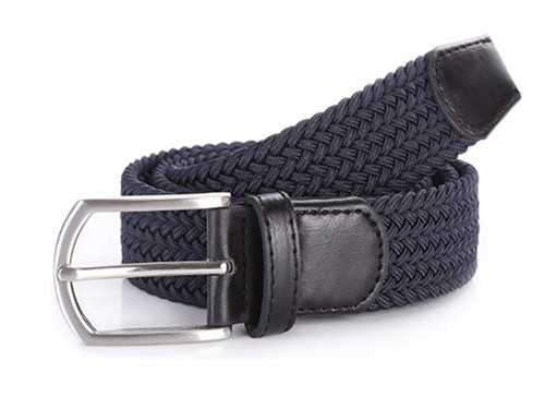 Navy stretch Belt for Jeans or sporty. (Golf)   What size belt should I get? If you pant is size 32 you should get belt size 34 If you pant is size 34 you should get belt size 36 and so on...