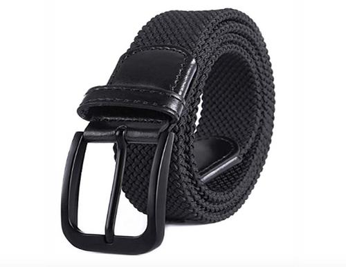 Black Jet with (Black Buckle) stretch Belt for Jeans or sporty. (Golf)   What size belt should I get? If you pant is size 32 you should get belt size 34 If you pant is size 34 you should get belt size 36 and so on...