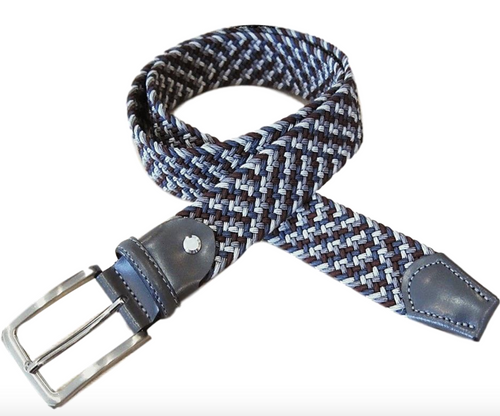 Marburg Sport 082000-03-7003 Grey/Burgundy stretch Belt for Jeans or sporty. (Golf)   What size belt should I get? If you pant is size 32 you should get belt size 34 If you pant is size 34 you should get belt size 36 and so on... Made in Germany