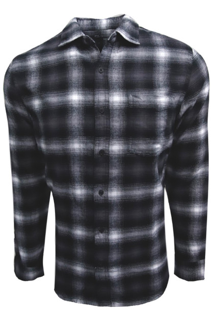 Super soft and cozy flannel plaid works perfect in any wardrobe as an over shirt or on its own. Easy casual with your favorite denims and over a grey, black or white Tee makes an effortless fashion statement.  100% Cotton  1 Breast pocket  Black buttons  Machine wash cold hang to dry or dry clean