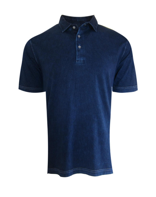 So super soft and feel good is our Limited Edition Garment Dyed Polo. Indigo Blue with white stitching is vivid and rich, looks fabulous with denim, khakis or whites. Special treatment and chemical free. Hand or machine was cold, lay flat to dry and go! Slightly tapered. For a comfort fit we recommend sizing up. 100% PIMA COTTON