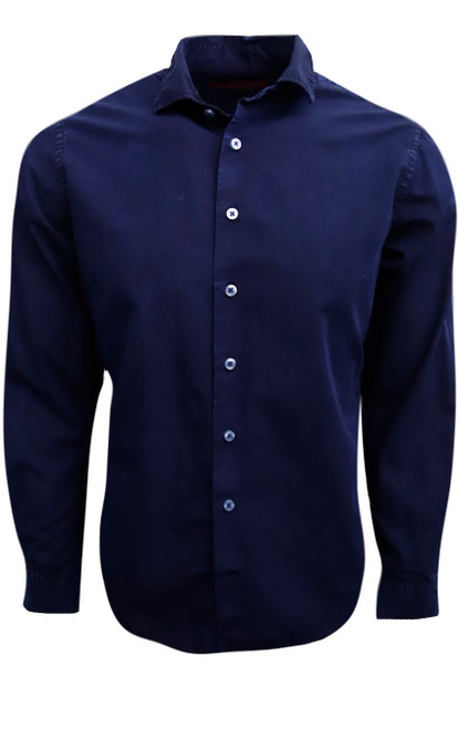 A truly spectacular shirt like no other. Raising the bar in special washes and dying,the shirt has been curated with a very special chemical free wash and dye creating a stunning, eye-catching  shade of Indigo Blue.   100% Cotton  Soft collar  Machine or hand wash cold, no bleach  Hang or lay flat to dry