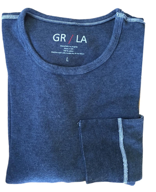 The Harrison GRLA LST 5091 INDIGO BLUE Long Sleeve Lightweight thermal / Fitted (We recommend to up size) You will love our Vintage Garment dyed wardrobe staple in Indigo Blue. Carefree and casual to wear with your fave denims day or night. It's an effortless fashion statement. Super soft with contrast stitching details. You will never want to take it off!   Lightweight Thermal  Fitted (We recommend to up size)  Long Sleeves, Crew Neck  100% Cotton  Machine or hand wash cold lay flat to dry and go!!  100% Cotton