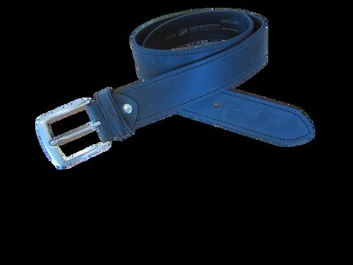 Indigo blue vintage belt,   What size belt should I get?  If you pant is size 32 you should get belt size 34 If you pant is size 34 you should get belt size 36 and so on...     100% Genuine Leather  Made in Germany