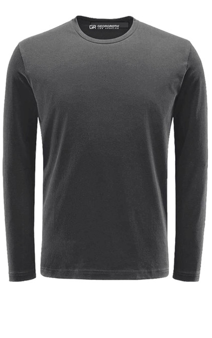Luxury Crew-Neck Long Sleeves Pima Cotton Gray TCLS-7024