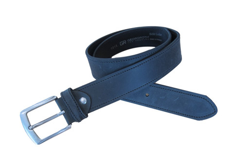 Black vintage belt,   What size belt should I get?  If you pant is size 32 you should get belt size 34 If you pant is size 34 you should get belt size 36 and so on...     100% Genuine Leather  Made in Germany
