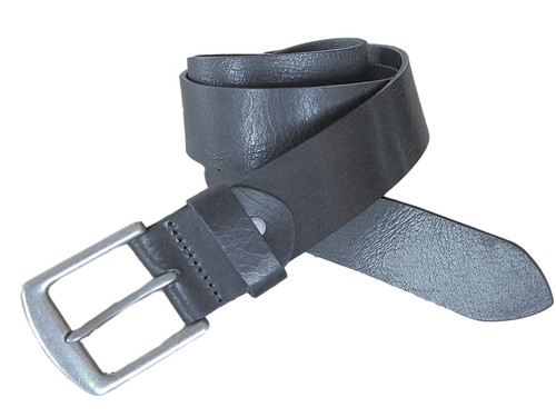 Black vintage leather belt,   What size belt should I get?  If you pant is size 32 you should get belt size 34 If you pant is size 34 you should get belt size 36 and so on...     100% Genuine Leather  Made in Germany