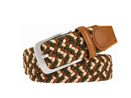 Marburg Sport 12-8001 Olive/Sand/Paprika Braided stretch, Leather trim.  Belt for Jeans or sporty. (Golf)   What size belt should I get?  If you pant is size 32 you should get belt size 34 If you pant is size 34 you should get belt size 36 and so on...  Made in Germany