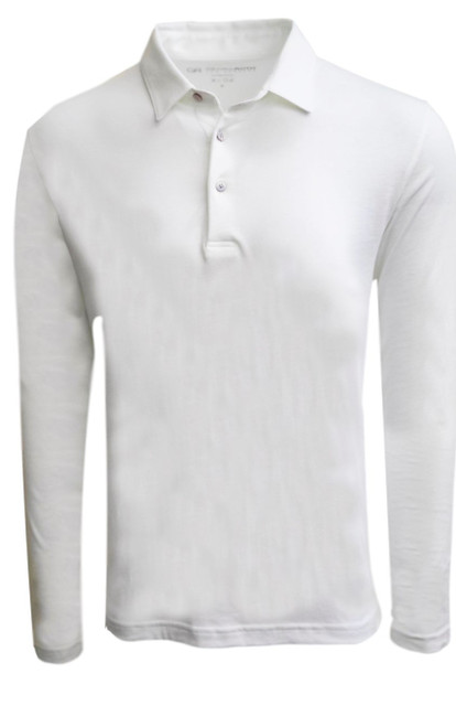 If you are familiar with our Luxe Pima than you can imagine how special and stunning our Long Sleeve fashion polo is. White pullover 3 button with collar is perfect for dress up or casual. Works great with a jacket and feels like a million with our soft buttery feel. Wash and dry without any shrinkage or twisting seams. Our pima is the finest in the industry and we guarantee it! For a more relaxed look, please size up 100% PIMA COTTON