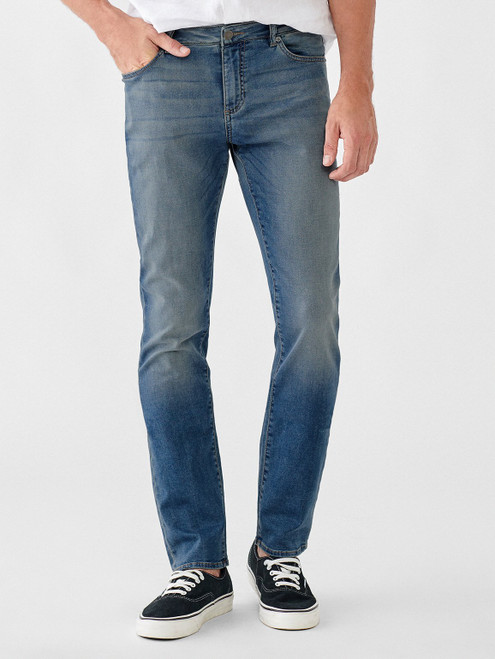 """So easy and super comfortable. The Nick DL 1961 is a true slim fit with a streamlined leg that's lean through the thigh and tapered towards the ankle.   Perfected Ultimate Knit fits are made with exceptional fabrics for all day comfort.  DETAILS Rise: 10"""", Inseam: 34"""", Leg Opening: 14.5"""" Zip fly with single-button closure Antique silver hardware  COMPOSITION  98% COTTON, 2% LYCRA"""