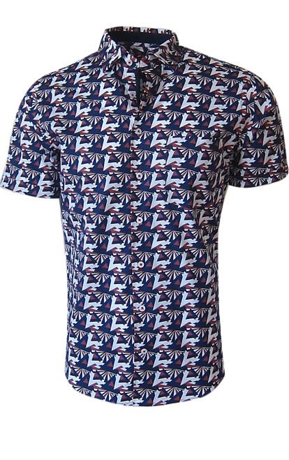 Short Sleeves San Clemente 37009BSS Mens Art Deco