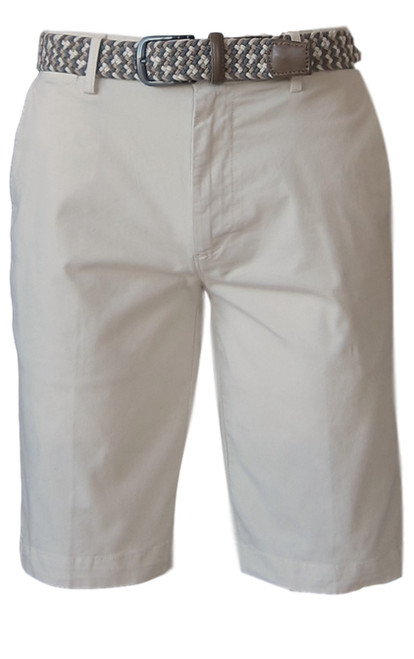 We call it the perfect timing .... Our Georg Roth Mens shorts have been developed and in the works for the last year. Getting it right is our first priority.   A Peruvian cotton with just enough stretch makes this super comfortable and stylish. Our chino flat front with 2 side pockets and a front coin pocket will take you to work or casual anytime, anywhere. (Belt sold separately https://georgrothlosangeles.com/mens-belts-1/)   Love the look with a Shirt open and a Tee (of course sleeves rolled) or a Polo or Tee. Pair it with our stretch braided belt and feel great all day into evening.  SAND BEIGE  Machine wash cold, light tumble dry or lay flat to dry  Sizing  - True to size   97% Cotton 3% Lycra