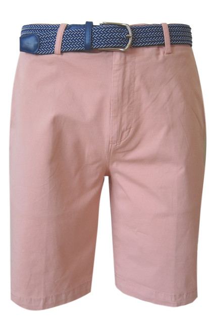 We call it the perfect timing .... Our Georg Roth Mens shorts have been developed and in the works for the last year. Getting it right is our first priority.   A Peruvian cotton with just enough stretch makes this super comfortable and stylish. Our chino flat front with 2 side pockets and a front coin pocket will take you to work or casual anytime, anywhere. (Belt sold separately https://georgrothlosangeles.com/mens-belts-1/)   Love the look with a Shirt open and a Tee (of course sleeves rolled) or a Polo or Tee. Pair it with our stretch braided belt and feel great all day into evening.  BLUSH  Machine wash cold, light tumble dry or lay flat to dry  Sizing  - True to size   97% Cotton 3% Lycra