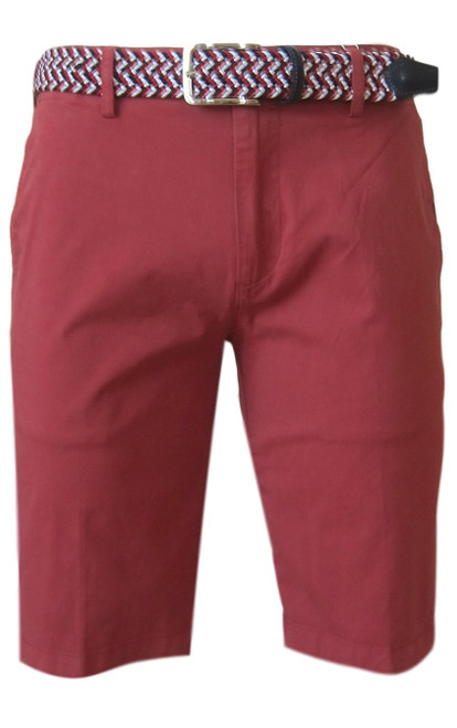 We call it the perfect timing .... Our Georg Roth Mens shorts have been developed and in the works for the last year. Getting it right is our first priority.   A Peruvian cotton with just enough stretch makes this super comfortable and stylish. Our chino flat front with 2 side pockets and a front coin pocket will take you to work or casual anytime, anywhere. (Belt sold separately https://georgrothlosangeles.com/mens-belts-1/)   Love the look with a Shirt open and a Tee (of course sleeves rolled) or a Polo or Tee. Pair it with our stretch braided belt and feel great all day into evening.  RED BRICK  Machine wash cold, light tumble dry or lay flat to dry  Sizing  - True to size   97% Cotton 3% Lycra