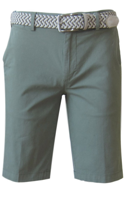We call it the perfect timing .... Our Georg Roth Mens shorts have been developed and in the works for the last year. Getting it right is our first priority.   A Peruvian cotton with just enough stretch makes this super comfortable and stylish. Our chino flat front with 2 side pockets and a front coin pocket will take you to work or casual anytime, anywhere. (Belt sold separately https://georgrothlosangeles.com/mens-belts-1/)   Love the look with a Shirt open and a Tee (of course sleeves rolled) or a Polo or Tee. Pair it with our stretch braided belt and feel great all day into evening.  KHAKI GREEN  Machine wash cold, light tumble dry or lay flat to dry  Sizing  - True to size   97% Cotton 3% Lycra