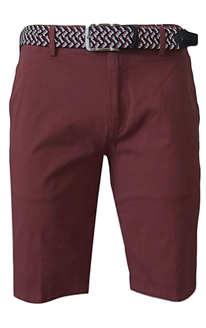 We call it the perfect timing .... Our Georg Roth Mens shorts have been developed and in the works for the last year. Getting it right is our first priority.   A Peruvian cotton with just enough stretch makes this super comfortable and stylish. Our chino flat front with 2 side pockets and a front coin pocket will take you to work or casual anytime, anywhere. (Belt sold separately https://georgrothlosangeles.com/mens-belts-1/)   Love the look with a Shirt open and a Tee (of course sleeves rolled) or a Polo or Tee. Pair it with our stretch braided belt and feel great all day into evening.  CHIANTI   Machine wash cold, light tumble dry or lay flat to dry  Sizing  - True to size   97% Cotton 3% Lycra
