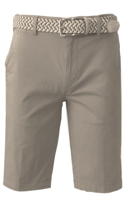 We call it the perfect timing .... Our Georg Roth Mens shorts have been developed and in the works for the last year. Getting it right is our first priority.   A Peruvian cotton with just enough stretch makes this super comfortable and stylish. Our chino flat front with 2 side pockets and a front coin pocket will take you to work or casual anytime, anywhere. (Belt sold separately https://georgrothlosangeles.com/mens-belts-1/)   Love the look with a Shirt open and a Tee (of course sleeves rolled) or a Polo or Tee. Pair it with our stretch braided belt and feel great all day into evening.  TAUPE  Machine wash cold, light tumble dry or lay flat to dry  Sizing  - True to size   97% Cotton 3% Lycra