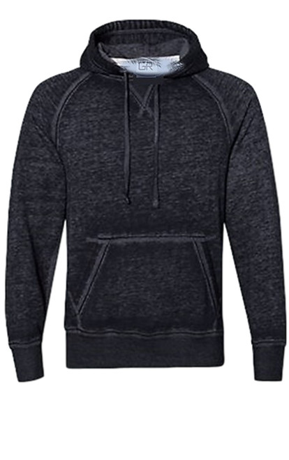 Your go to fashion Pullover hoodie has arrived! A vintage burn out effect in a striking black charcoal effect with 2 pockets. Light weight fleece.  Easy piece that you will just love the comfort and feel. Pair it with any of our tees and enjoy the layered look of casual comfort.  Each piece has its own character with Raw edge seams around the hood, pockets and cuffs giving it a lived in look.  Hand or Machine wash cold and lay flat to dry (No bleach please)