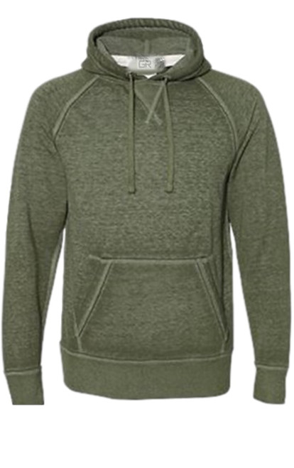 Your go to fashion Pullover hoodie has arrived! A vintage burn out effect in a fashion trending Olive color with 2 pockets. Light weight fleece.  Easy piece that you will just love the comfort and feel. Pair it with any of our tees and enjoy the layered look of casual comfort.  Each piece has its own character with Raw edge seams around the hood, pockets and cuffs giving it a lived in look.  Hand or Machine wash cold and lay flat to dry (No bleach please)