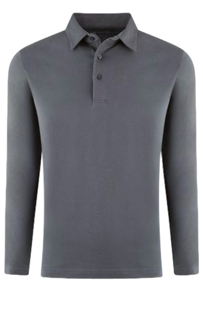 If you are familiar with our Luxe Pima than you can imagine how special and stunning our Long Sleeve fashion polo is. Grey pullover 3 button with collar is perfect for dress up or casual. Works great with a jacket and feels like a million with our soft buttery feel. Wash and dry without any shrinkage or twisting seams. Our pima is the finest in the industry and we guarantee it! For a more relaxed look, please size up 100% PIMA COTTON