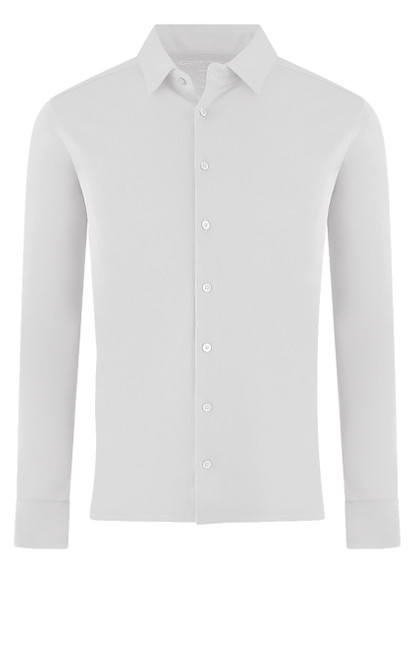 Rich & Sophisticated denotes our Luxury Pima button up shirt in white. Soft buttery feel for comfort and styled for dress or casual. Wash and dry without any shrinkage or twisted seams. 100% Pima Cotton