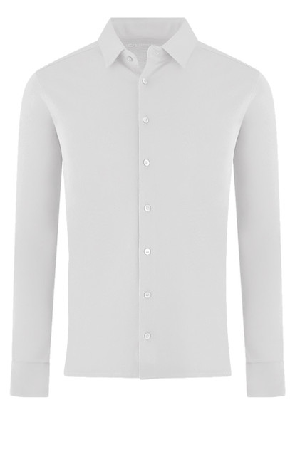 LUXE PIMA LONG SLEEVES SHIRT SHLS-1008 WHITE