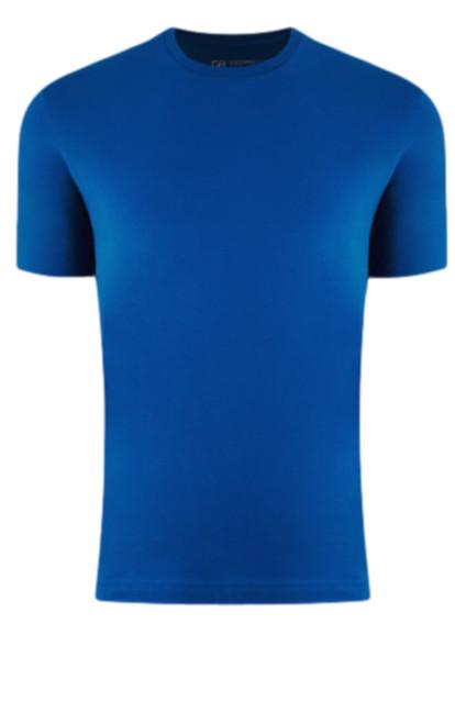 Luxury Crew Neck Short Sleeves Pima Cotton Mens Sapphire TCSS-5062