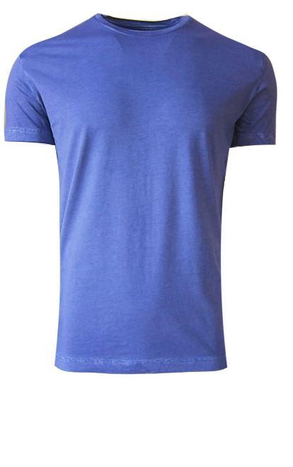 Luxury Crew Neck Short Sleeves Pima Cotton Mens T-Shirt Garment Dyed in a rich Purple.  Georg Roth is proud to feature his love of T-shirts.  The World's Greatest T-Shirt Made of natural materials Our guarantee: 100% Supercombined Pima Cotton / Organic Wash UP TO 60 DEGREES Celcius or 130 Fahrenheit Zero percent shrinkage, dryer proof Maximum maturity of elasticity & shape Ecological dyes of supreme quality & free of chemicals Purple Crew-Neck T-Shirt