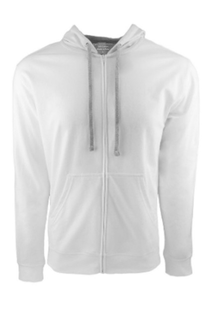 Terry Lined Cotton Zip Hoodie So Soft & Light