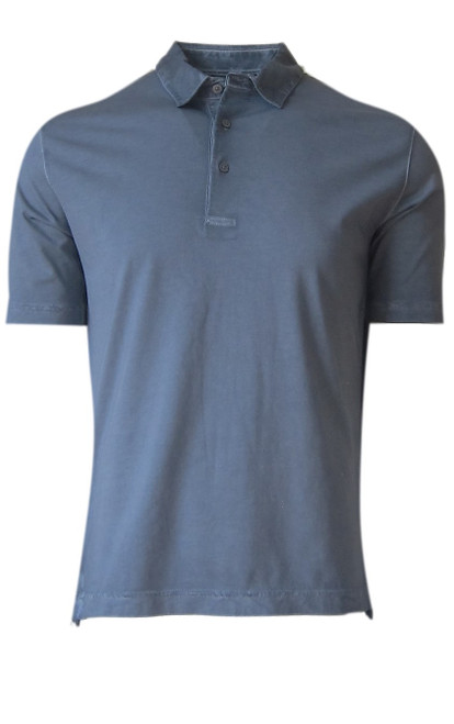 So super soft and feel good is our Limited Edition Garment Dyed Polo. A warm shade of Capri Blue is vivid and rich, looks fabulous with denim, khakis, or whites. Special treatment and chemical free. Hand or machine was cold, lay flat to dry and go! Slightly tapered. For a comfort fit we recommend sizing up. 100% PIMA COTTON