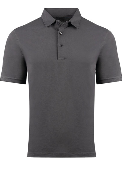 So super soft and feel good is our Limited Edition Garment Dyed Polo.  A shade of Grey is vivid and rich, looks fabulous with denim, black or whites.  Special treatment and chemical free.  Hand or machine was cold, lay flat to dry and go! Slightly tapered.  For a comfort fit we recommend sizing up. 100% PIMA COTTON