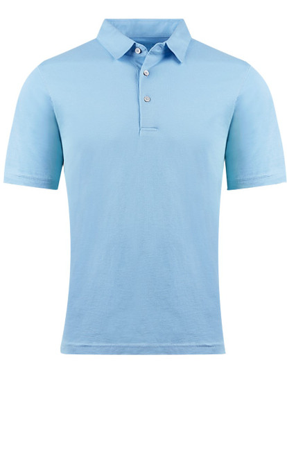 So super soft and feel good is our Limited Edition Garment Dyed Polo.  A warm shade of Blue is vivid and rich, looks fabulous with denim, khakis or whites.  Special treatment and chemical free.  Hand or machine was cold, lay flat to dry and go!  Slightly tapered. For a comfort fit we recommend sizing up. 100% PIMA COTTON