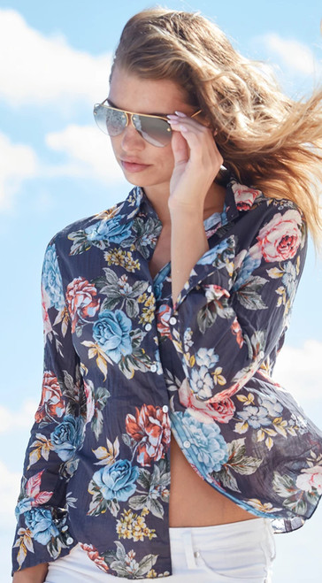 Striking and feel like a million in this jewel. A beautiful crinkle romantic floral pattern.   100% cotton print crinkle   Washes beautifully - Machine wash, twist and go!