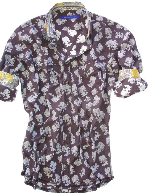 100% Cotton  Liberty of London Print  Country Western Style Shirt