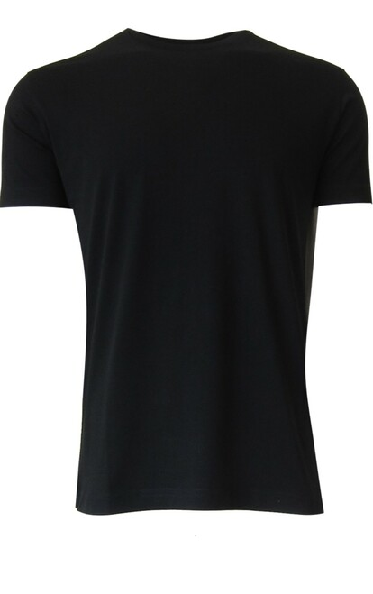 Luxury Crew-Neck Short Sleeves  Black Pima Cotton Mens Tshirt TCSS-9005