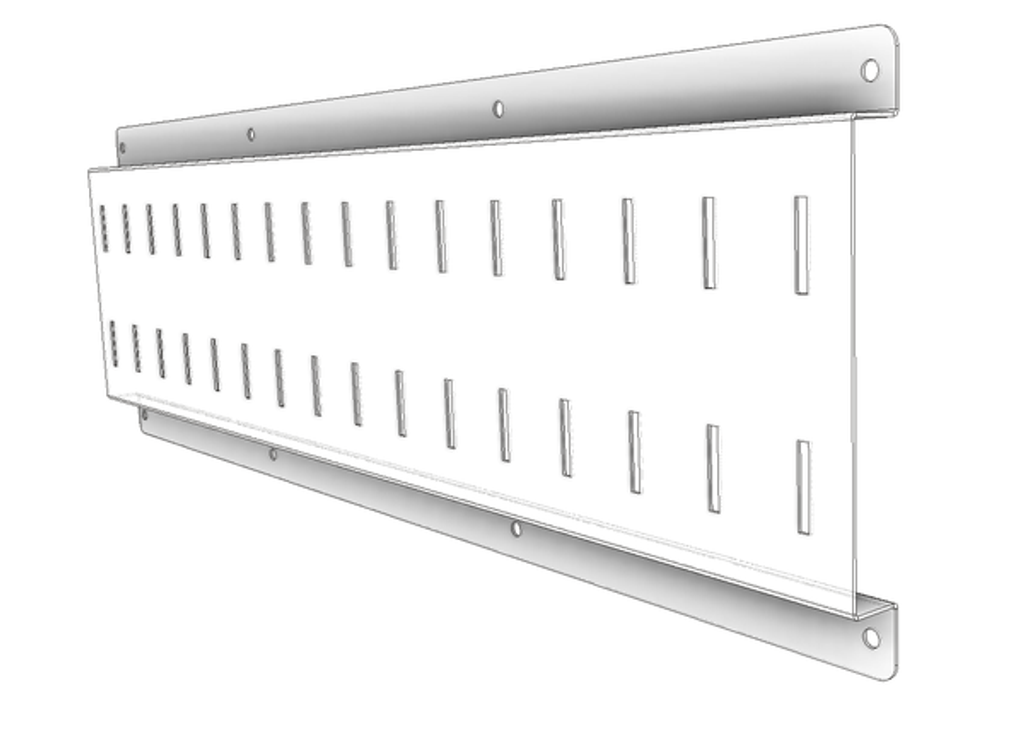 Stainless Steel wall rail - this is an illustration.