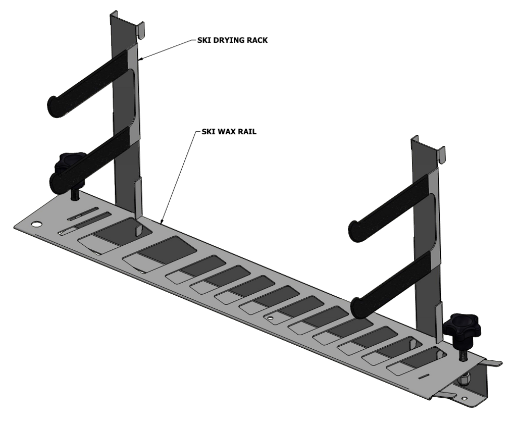 Ski wax bench organizer