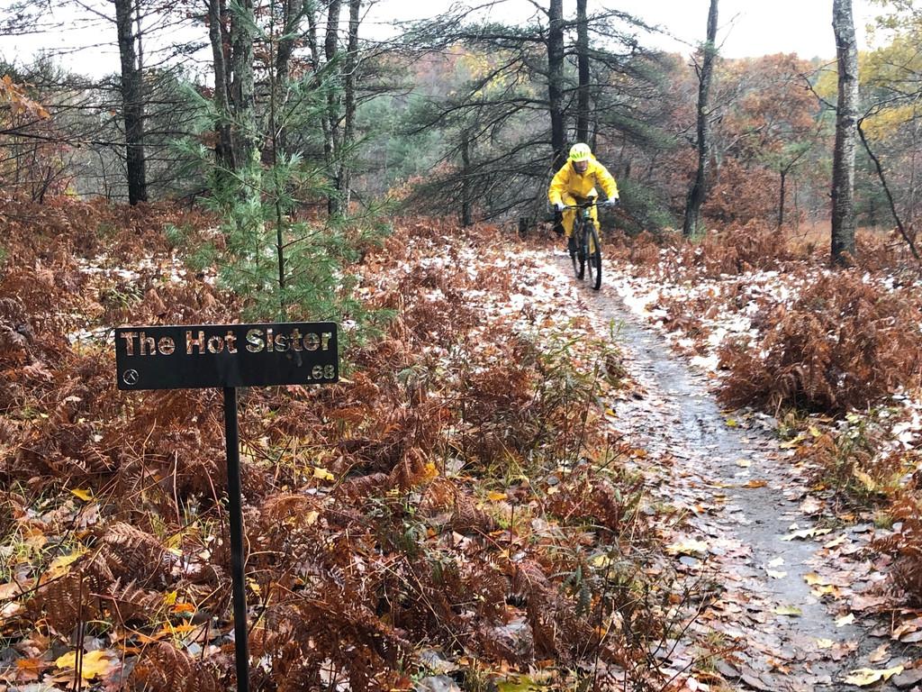 Mountain Bike Sign for Strava Segment photo