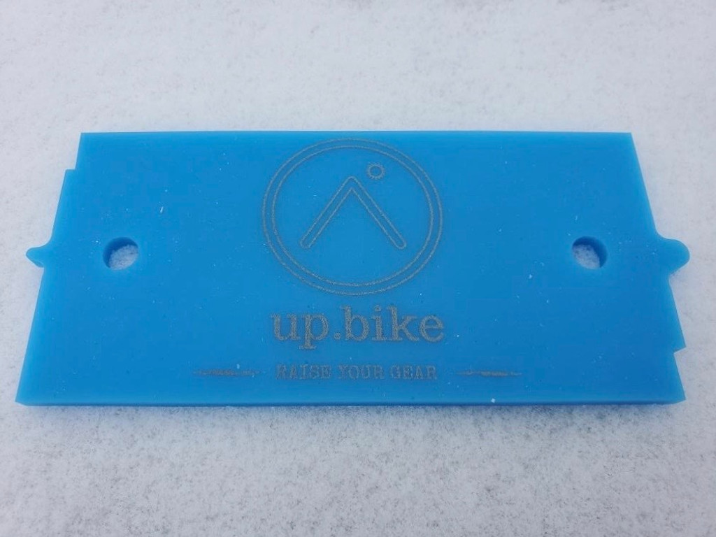 Slate Wax Card - Ski Wax Scraper