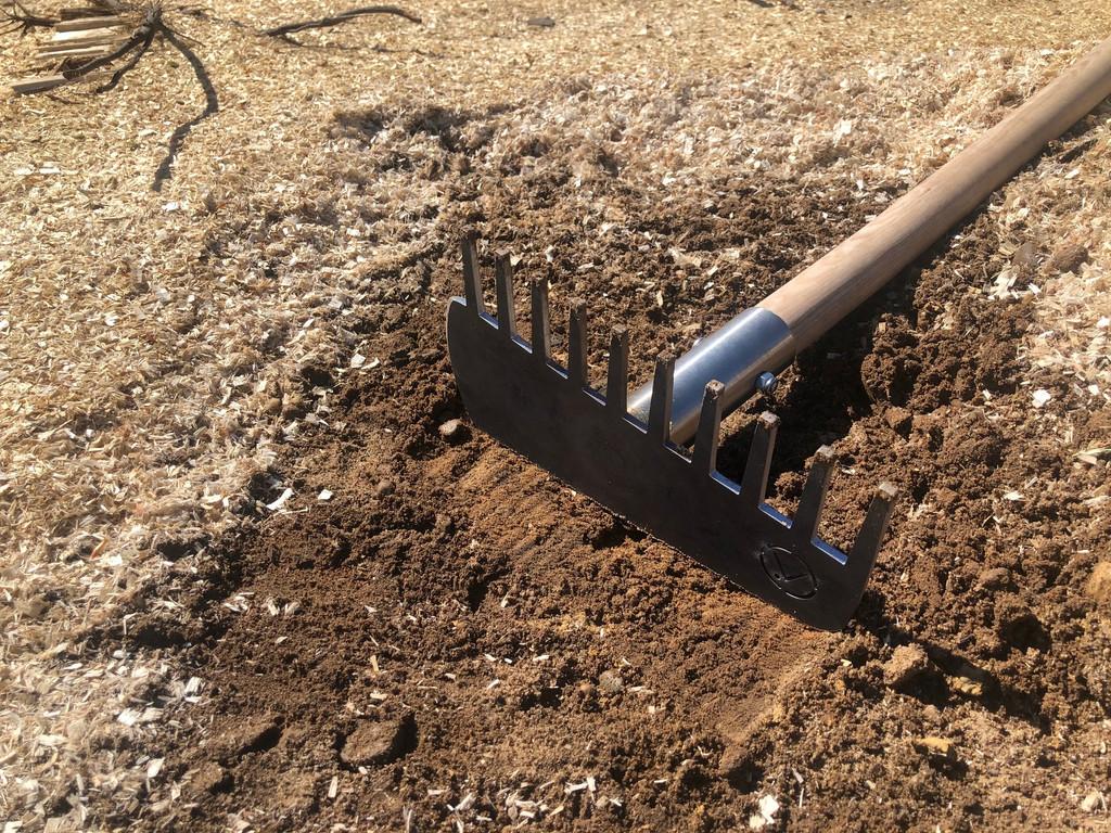 MTB trail building tool - trail rake