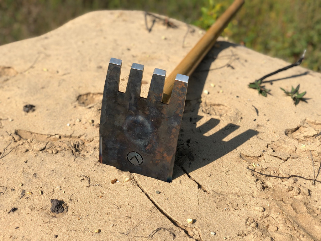 MTB trail building tool from armored steel