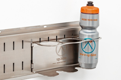 Water bottle storage for bicycling or other sports.  Find it, fill it, and go.