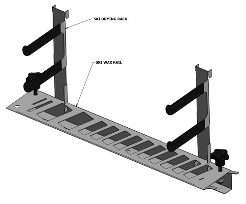 Ski wax bench organizer