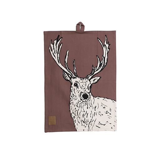 Into the wild stag tea towel
