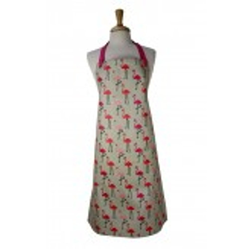 Adult apron PVC flamingo