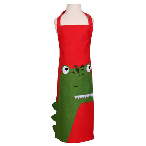 ROAR red dinosaur childs apron