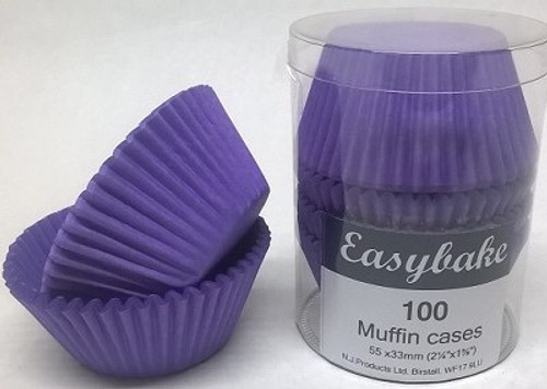 Purple paper muffin cases