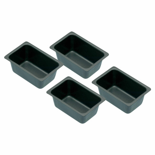 Non stick set of 4 mini loaf tins.